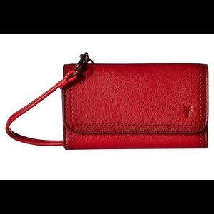 Frye Women's Lily Red Leather Phone Crossbody